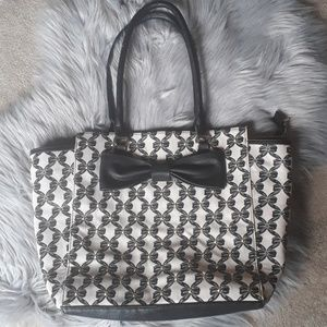 Large Betsey Johnson Tote with bows